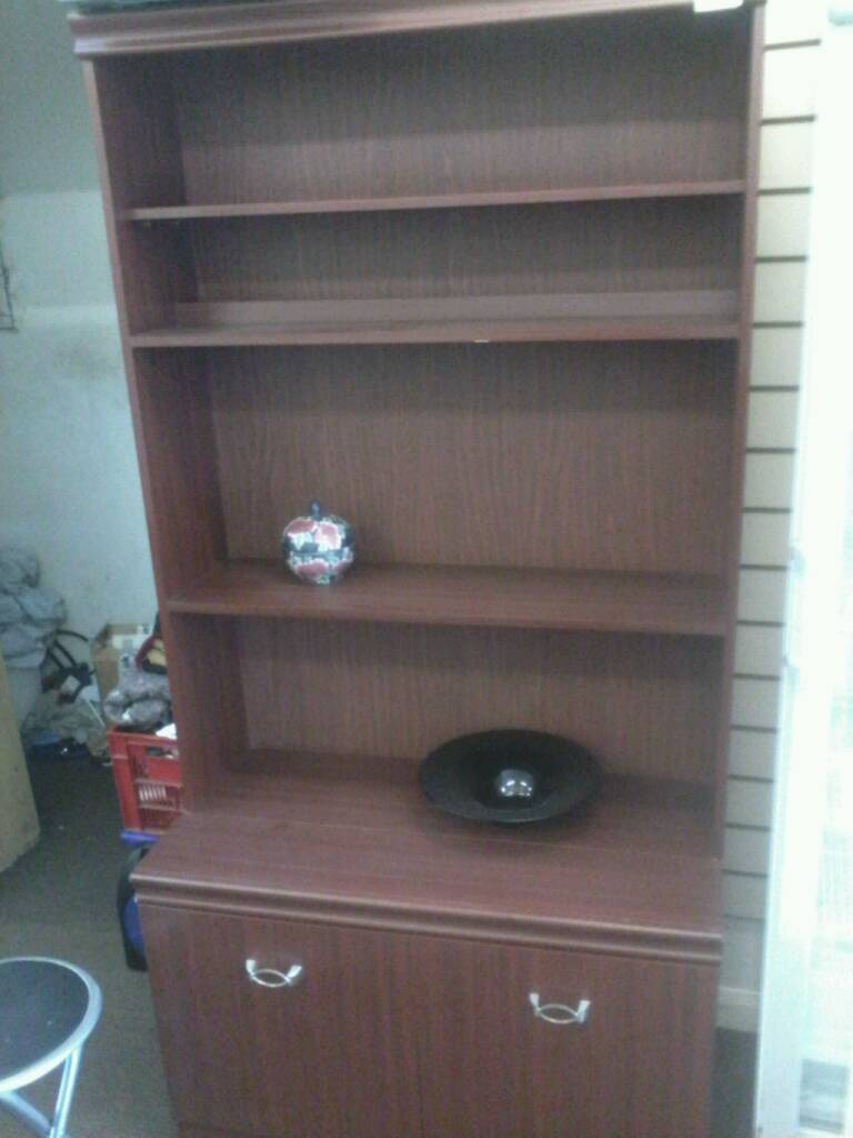 DARK WOOD WALL UNIT REALLY GOOD | in Swindon, Wiltshire | Gumtree