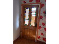 Solid Pine Doors - Stained Glass Door