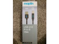 USB 2.0 A to B 1.5m