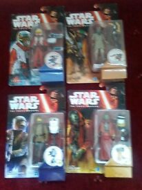 Star Wars 4 New Action Figures Sealed The Force Awakens lot boxed sarco zuvio asty x wing pilot