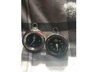 Harley Davidson handle bar clock and temp clock
