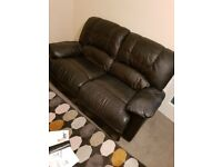Reclining Faux Leather Suite
