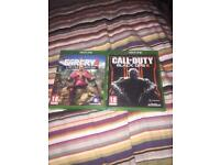 Farcry 4 , Call of Duty Black Opps 3 ( Xbox one )