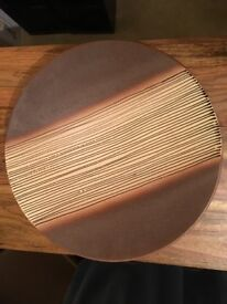 Brown & Yellow Decorative Plate