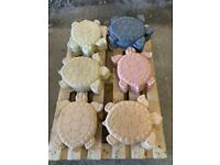 🐢 Large Concrete / Stone Turtle / Tortoise Ornament/ Stepping Stone ~ New