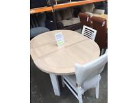 Mark Webster extendable table with 4 x chairs. New