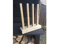 Boot rack and boot jack. Hand made in solid oak