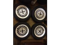 "BBS RA 14"" Alloy Wheels 4x100 - VW Golf Mk1 Mk2 Mk3 Vauxhall Astra Corsa Vectra Nova Tigra Alloys"