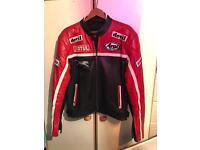 Leather Jacket Motorcycle Padded size 42