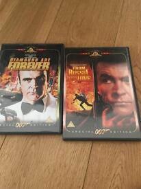 007 James Bond DVDs