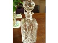 1960s Crystal Cut glass Whisky decanter