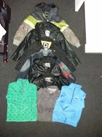 Joblot Boys Jackets. Various Sizes and Brand. 9 items