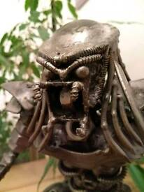Predator metal sculpture
