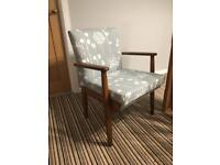 Parker Knoll Chair Duck Egg Blue Pattern chair 1