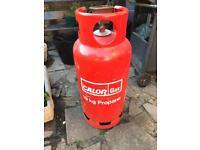 Empty 19kg gas bottle and regulator