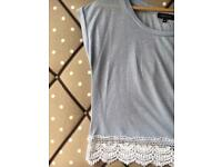 Lilac Top with Lace Detail