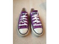 Converse trainers size 3 hardly used great purple colour
