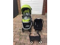 Xpedior 4 Wheel Stroller Pushchair Travel System