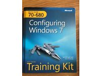 Configuring Windows 7 Training Kit Hardback Book with software pack.
