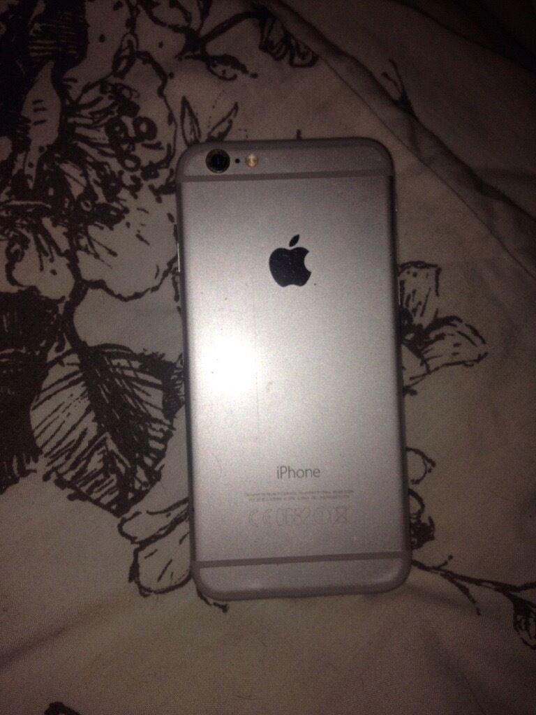 iPhone 6, silver on EE