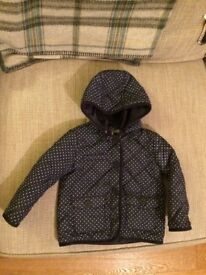Girls quilted coat 2-3yrs