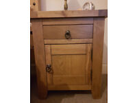 2 X Solid Oak bedside cabinets, paid over £400 for the both..Ystradgynlais