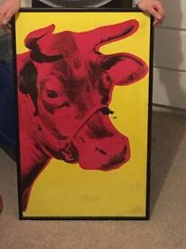 Andy Warhol framed cow print