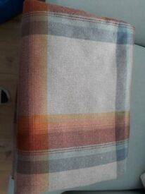 Next plaid curtains, Orange/Teal. 88inch drop, 66 inch wide. 11 months old.