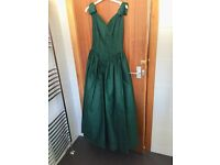 2 Emerald Green Prom/Bridesmaids Dresses - Size 8/10 excellent condition £50 each