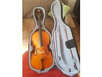 Selling 3/4 size Stentor cello with bow & hard case & upgraded strings. Great condition