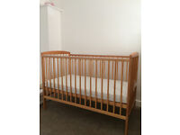 New baby elegance cot with mattress