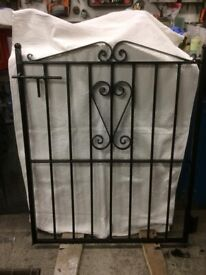 Gate Wrought Iron Gate this is a heavy gate Good Quality (Not thin steel) Just been painted