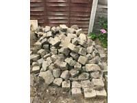 Granit paving blocks