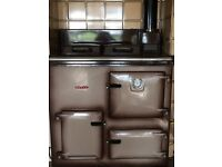 Rayburn ; Royal, oil-fired, heats water & radiator