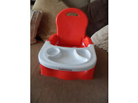 Mothercare Baby booster seat with removable tray RED