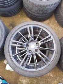 "Bmw genuine original Mv3 Black 18"" alloy wheel CAN POST"