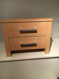 Two draw bedside table for sale