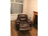 Price Drop, Quick to Go!! Electronic real leather Brown sofas armchairs sofa, good function