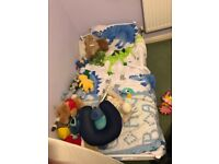 Kids toddler bed with mattress and duvet