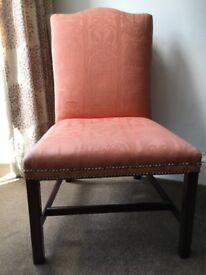 Georgian Mahogany Upholstered Library Chair