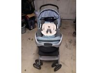 Buggy, Baby carrier and car seat attachment