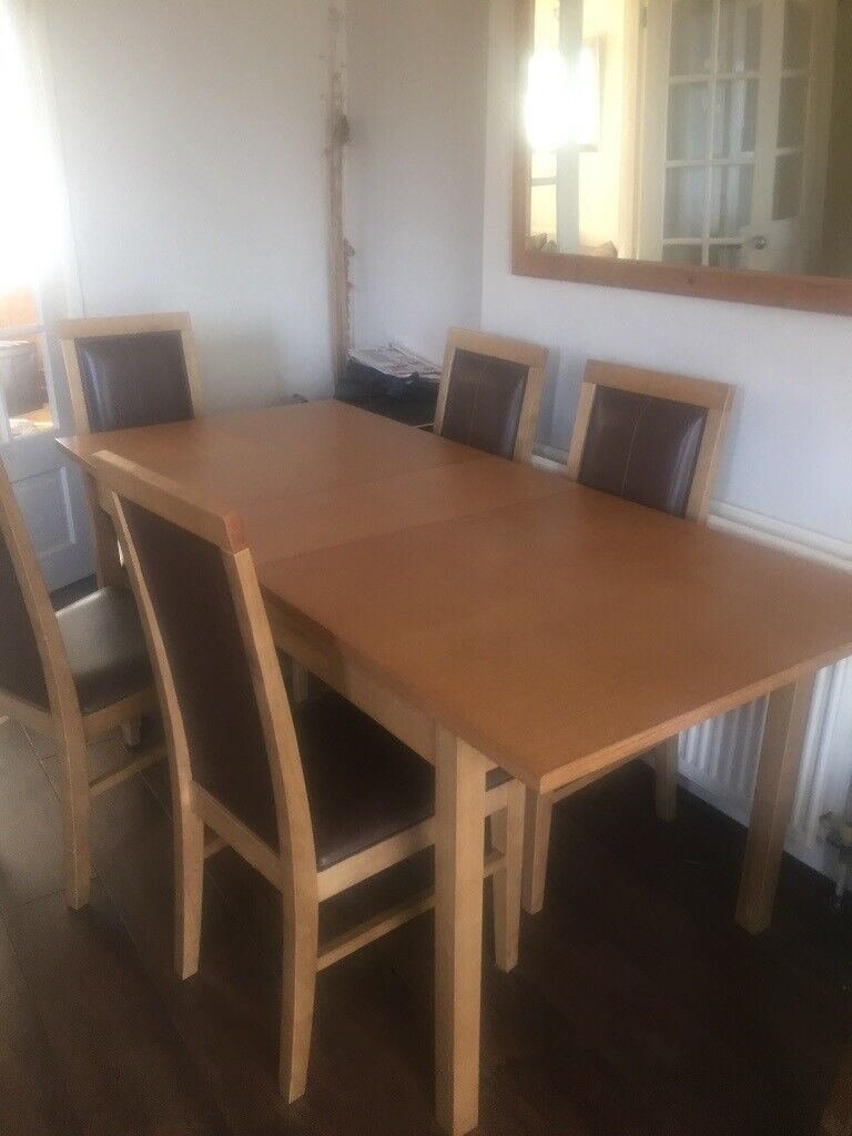 Extendable Table 5 Chairs For Sale 50 Leicester
