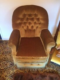 2 Gold Armchairs