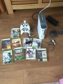 Xbox 360 60gb with games and accessories