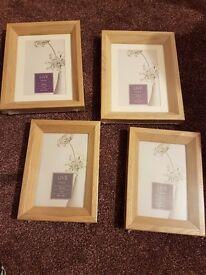 4 wood 4x6 photo frames