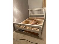 White double bed + mattress