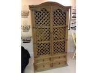 Mexican drinks cabinet and matching smaller Cabinet