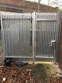 9/9 Ft 3 Spike Steel Security Gate