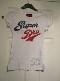 SUPERDRY TOP WHITE SIZE XS