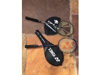 Two Badminton Rackets for sale (Carlton Yonex)